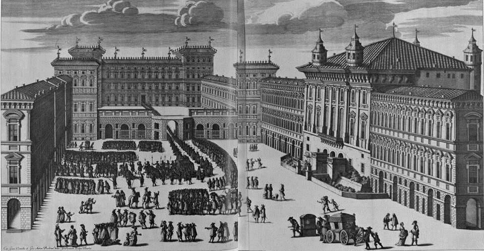 Piazza Castello nella Torino barocca